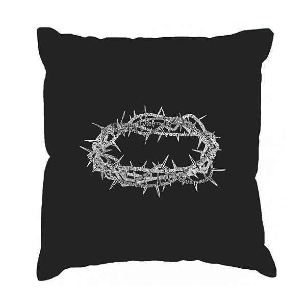 Los Angeles Pop Art CROWN OF THORNS Throw Pillow Cover