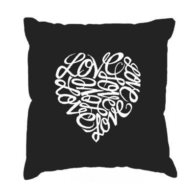 Los Angeles Pop Art LOVE Throw Pillow Cover