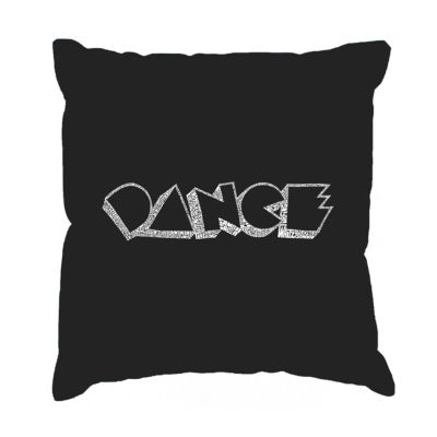 Los Angeles Pop Art DIFFERENT STYLES OF DANCE Throw Pillow Cover
