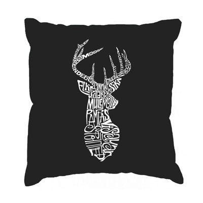 Los Angeles Pop Art Types of Deer Throw Pillow Cover
