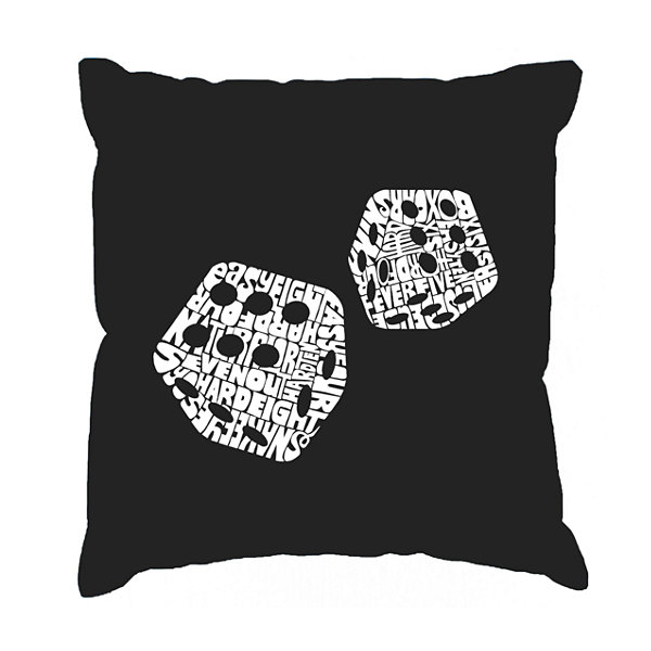 Los Angeles Pop Art DIFFERENT ROLLS THROWN IN THEGAME OF CRAPS Throw Pillow Cover
