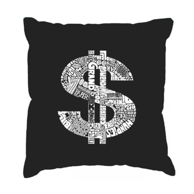 Los Angeles Pop Art Dollar Sign Throw Pillow Cover
