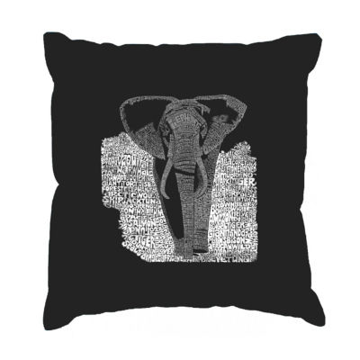 Los Angeles Pop Art ELEPHANT Throw Pillow Cover