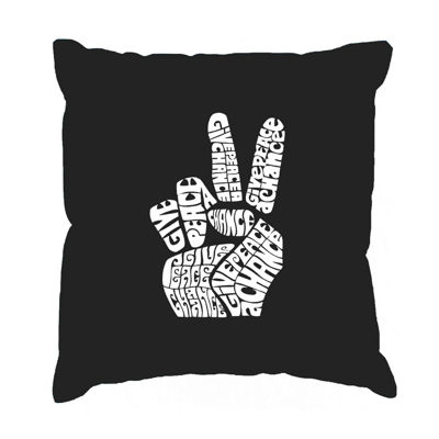 Los Angeles Pop Art FINGER HEART Throw Pillow Cover