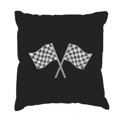 Los Angeles Pop Art NASCAR NATIONAL SERIES RACE TRACKS Throw Pillow Cover