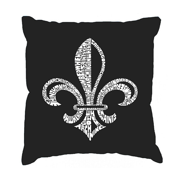 Los Angeles Pop Art LYRICS TO WHEN THE SAINTS GO MARCHING IN Throw Pillow Cover