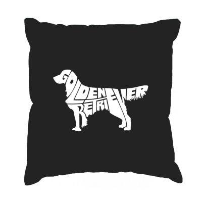 Los Angeles Pop Art  Golden Retreiver Throw PillowCover