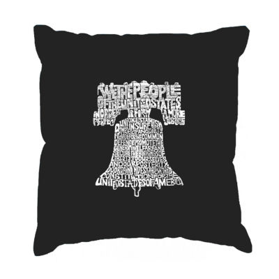 Los Angeles Pop Art  Liberty Bell Throw Pillow Cover