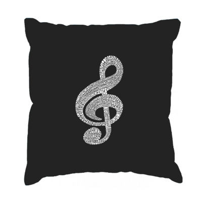 Los Angeles Pop Art  Music Note Throw Pillow Cover