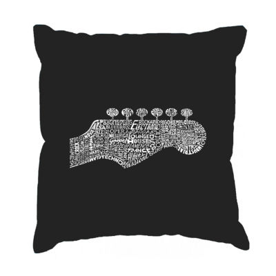 Los Angeles Pop Art Guitar Head Throw Pillow Cover