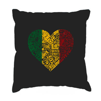 Los Angeles Pop Art  One Love Heart Throw Pillow Cover