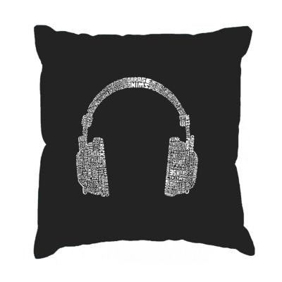 Los Angeles Pop Art 63 DIFFERENT GENRES OF MUSIC Throw Pillow Cover