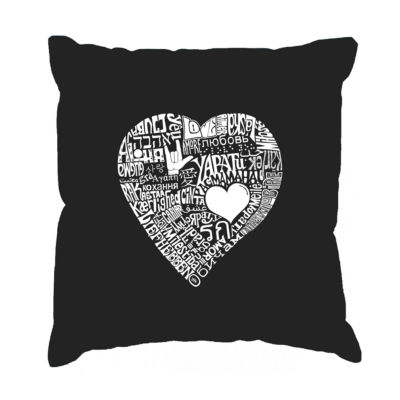 Los Angeles Pop Art LOVE IN 44 DIFFERENT LANGUAGESThrow Pillow Cover