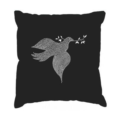 Los Angeles Pop Art  Dove Throw Pillow Cover