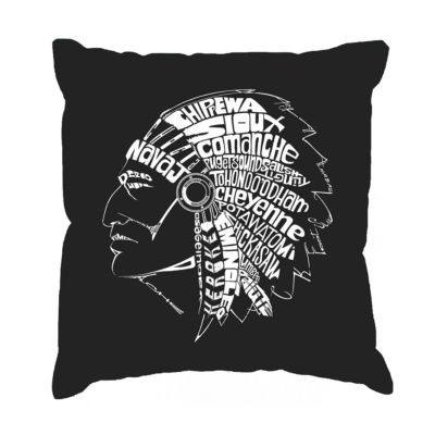 Los Angeles Pop Art POPULAR NATIVE AMERICAN INDIANTRIBES Throw Pillow Cover