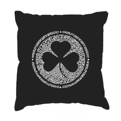 Los Angeles Pop Art LYRICS TO WHEN IRISH EYES ARESMILING Throw Pillow Cover