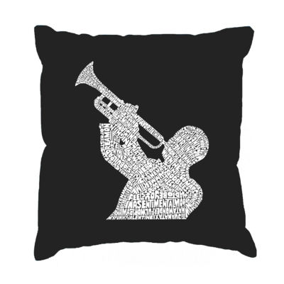 Los Angeles Pop Art ALL TIME JAZZ SONGS Throw Pillow Cover