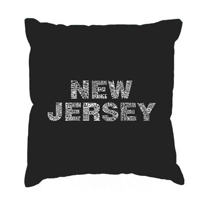 Los Angeles Pop Art NEW JERSEY NEIGHBORHOODS ThrowPillow Cover