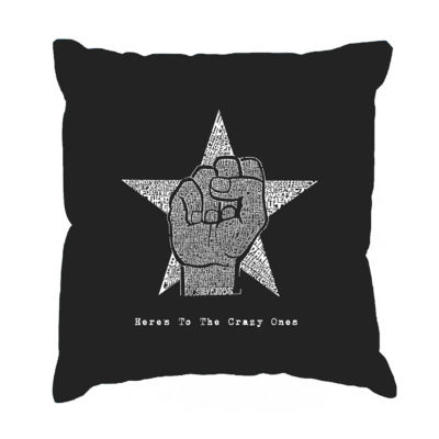 Los Angeles Pop Art Steve Jobs - Here's To The Crazy Ones Throw Pillow Cover