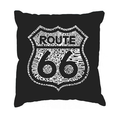 Los Angeles Pop Art Get Your Kicks on Route 66 Throw Pillow Cover
