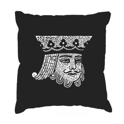 Los Angeles Pop Art King of Spades Throw Pillow Cover