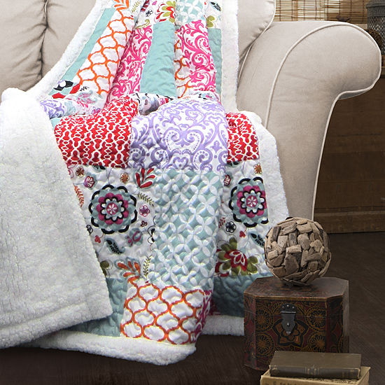 Lush Decor Lush Decor Brookdale Sherpa Throw