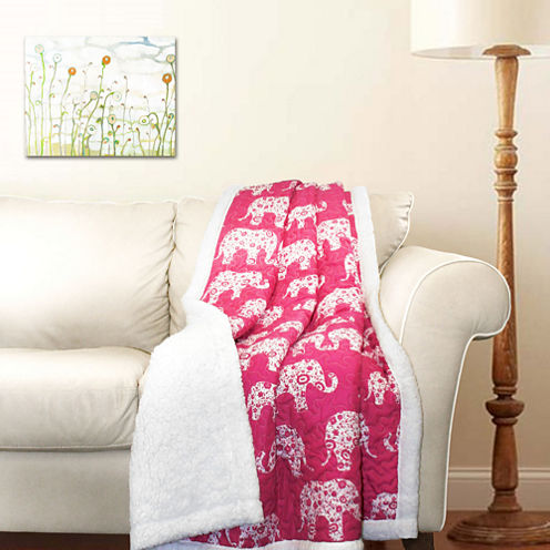Lush Decor Lush Decor Elephant Parade Throw