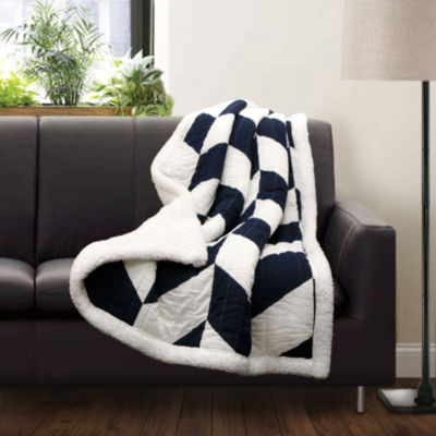 Lush Decor Lush Decor Jigsaw Chevron Throw
