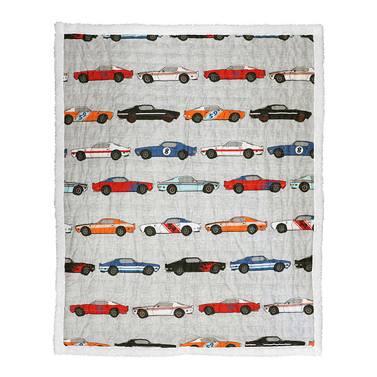 Lush Decor Lush Decor Race Cars Sherpa Throw