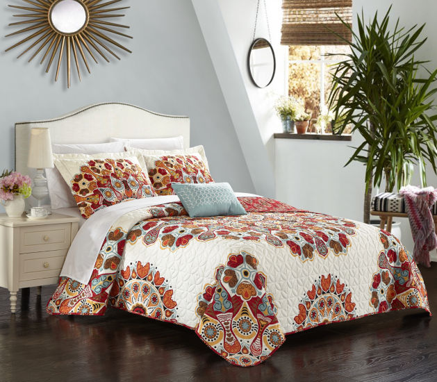 Chic Home Rouen 8pc Quilt Cover Set