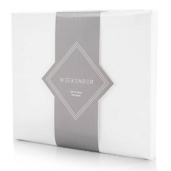 Weekender 200 Thread Count Hotel Flat Sheet