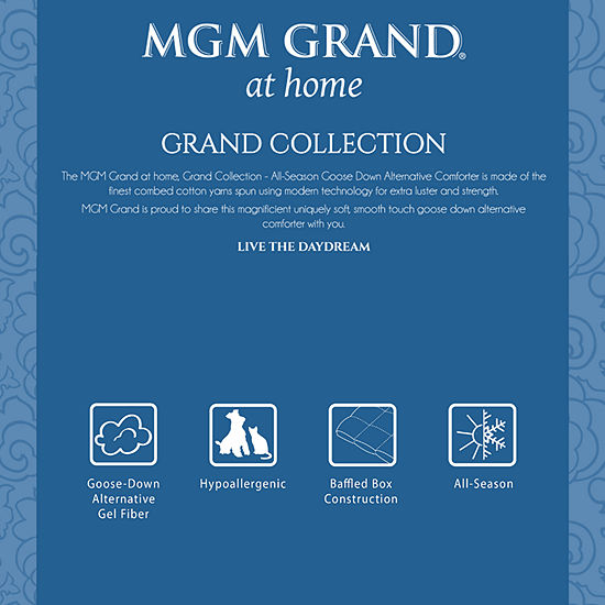 MGM Grand At Home Grand Collection All-Season Down Alternative Hypoallergenic Comforter