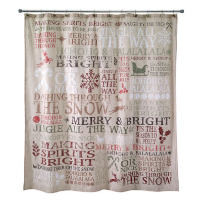 Avanti Holiday Words Shower Curtain
