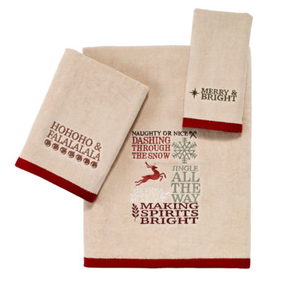 Avanti Holiday Words Bath Towel Collection