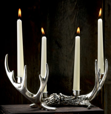 St. Croix Trading 14 Point Antler Candle Holder