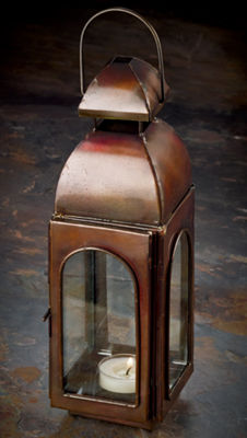 St. Croix Trading Antique Bronze Finish Candle Lantern