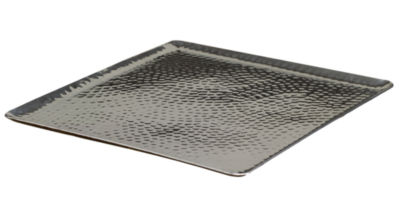"""St. Croix Trading 15"""" Square Hammered Aluminum Tray"""""""