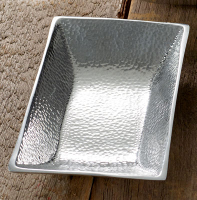 St. Croix Trading Hammered Aluminum Rectangle Tray