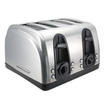 Brentwood 4-Slice Stainless Steel Toaster