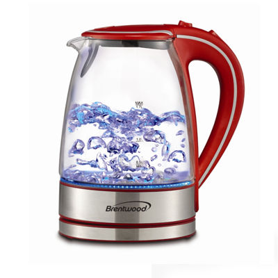 Brentwood 1.7L Tempered Glass Tea Kettles