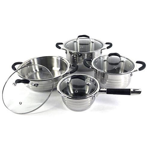 SuperX 8-pc. Stainless Steel Jumbo Cookware Set