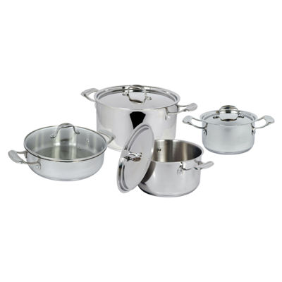 Better Chef 8-pc. Stainless Steel Cookware Set