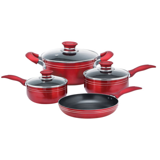 Brentwood 7-pc. Aluminum Non-Stick Cookware