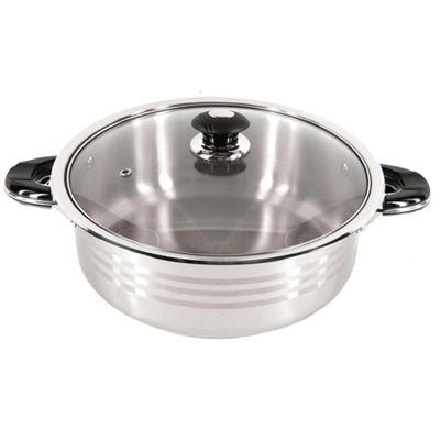 Better Chef SuperX 8-qt. Stainless Steel Shallow Pot
