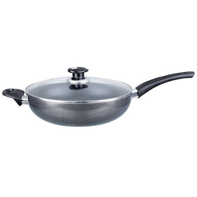 "Brentwood Aluminum Non-Stick 9.5"" Wok with Lid"