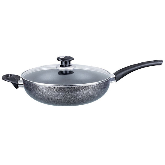 "Brentwood Aluminum Non-Stick 11"" Wok with Lid """