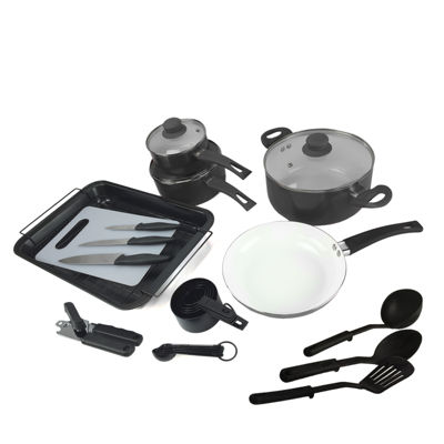 Plateau 27-pc. Aluminum Cookware Combo Set