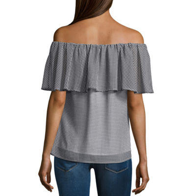 T.D.C Gingham Off The Shoulder Top