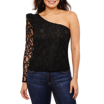 Bold Elements One Shoulder Puff Sleeve Top