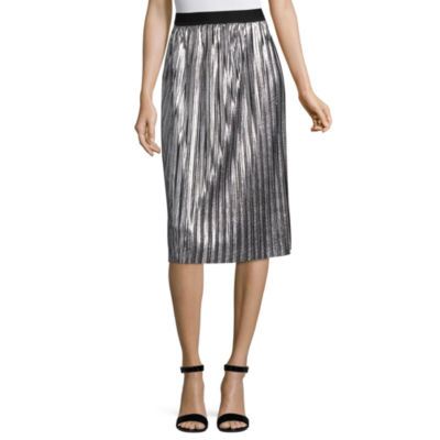 Project Runway Metallic Pleated Skirt
